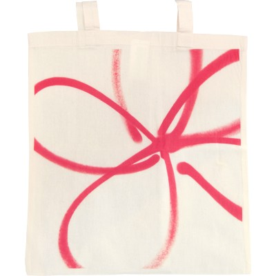 Forget-me-not red tote bag